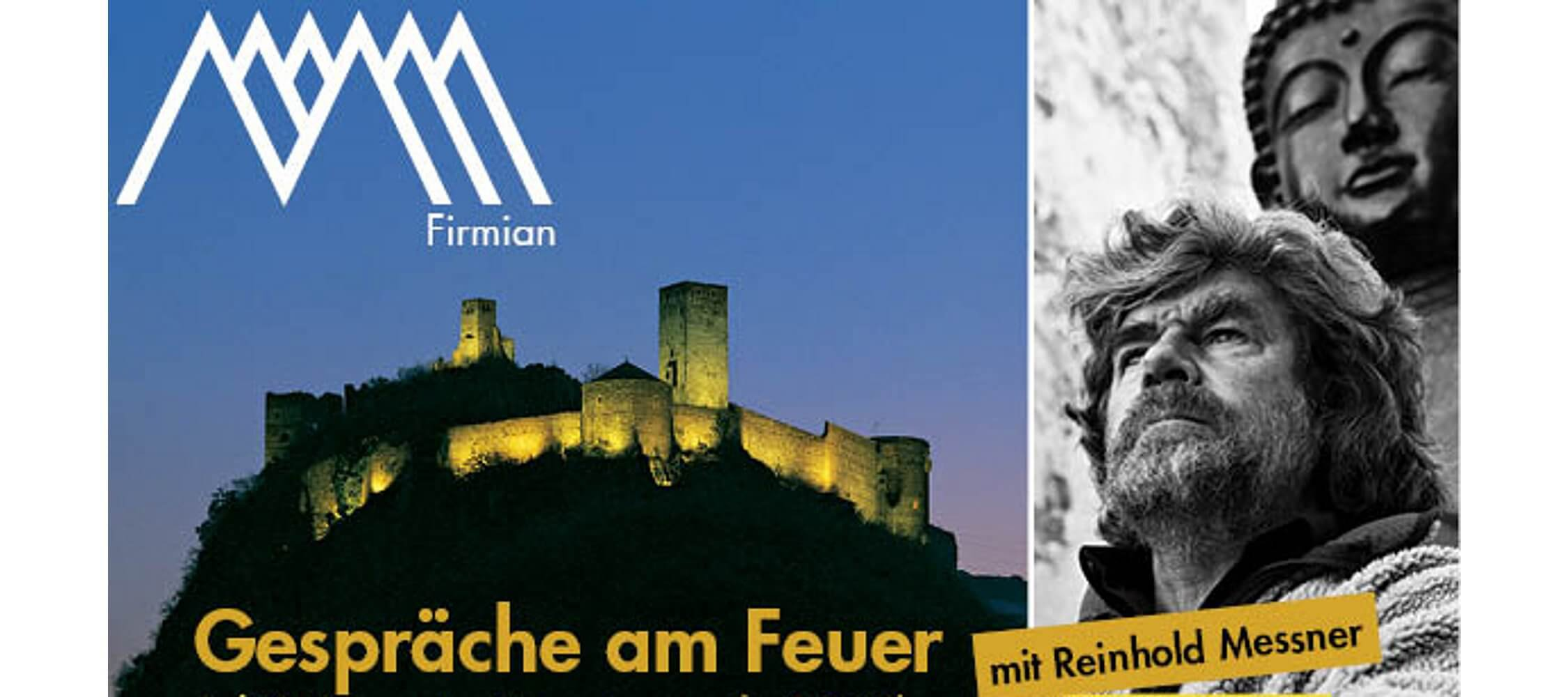 Italien-Trentino_Suedtirol_Alto_Adige_Merano_Meran_Besichtigen_Kultur_Museum_MMM_Firmian_Gespraeche_am_Feuer_Reinhold_Messner_2250x1000