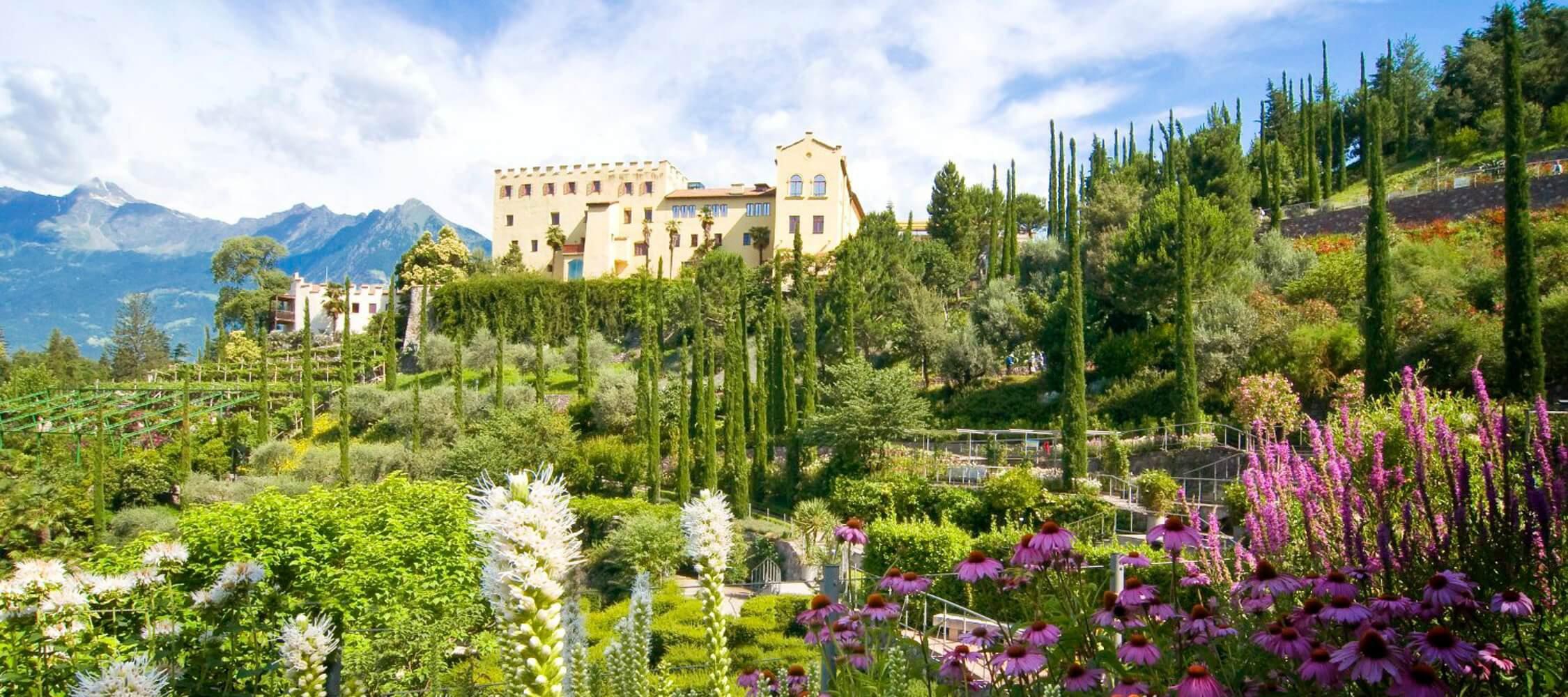 Italien-Trentino_Suedtirol_Alto_Adige_Merano_Meran_Natur_Besichtigen_Botanischer_Garten_Gaerten_von_Schloss_Trauttmansdorff-Marion Gelmini_2250x1000