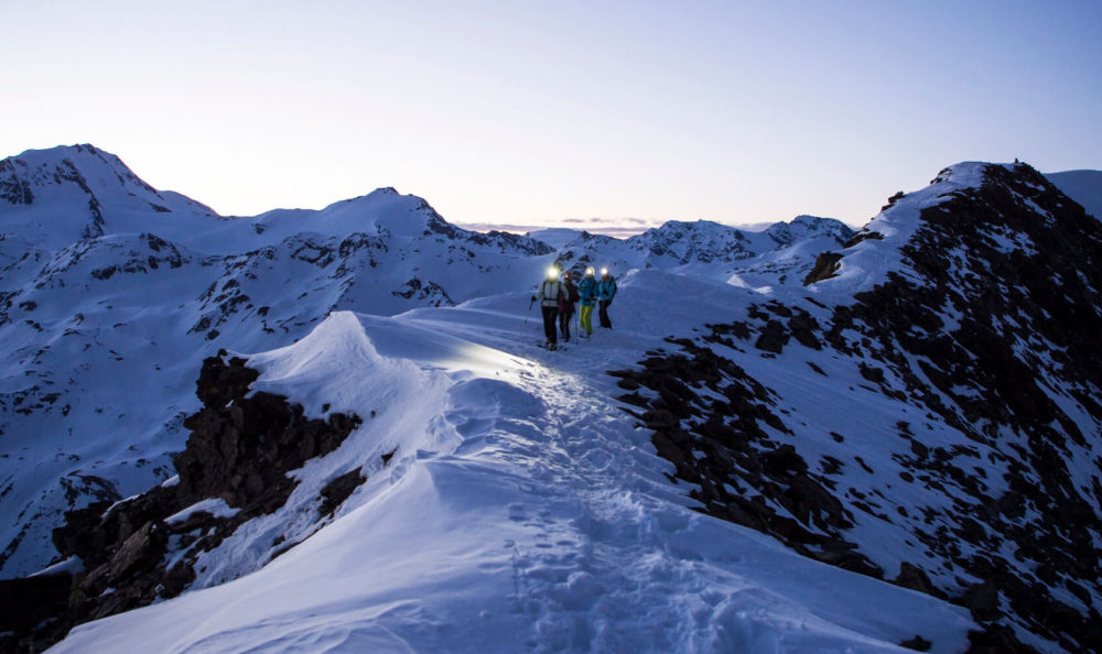 Ski tour at the Senales Glacier