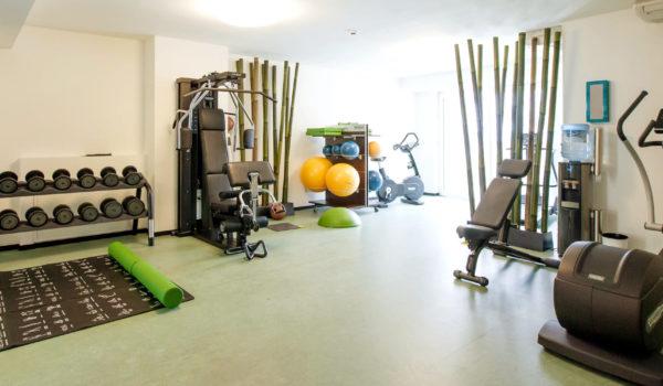 Work-out in unserem professionell ausgestatteten Fitnessstudio. Mit Geräten der Marke Technogym. ©Oyster Marco Pompeo