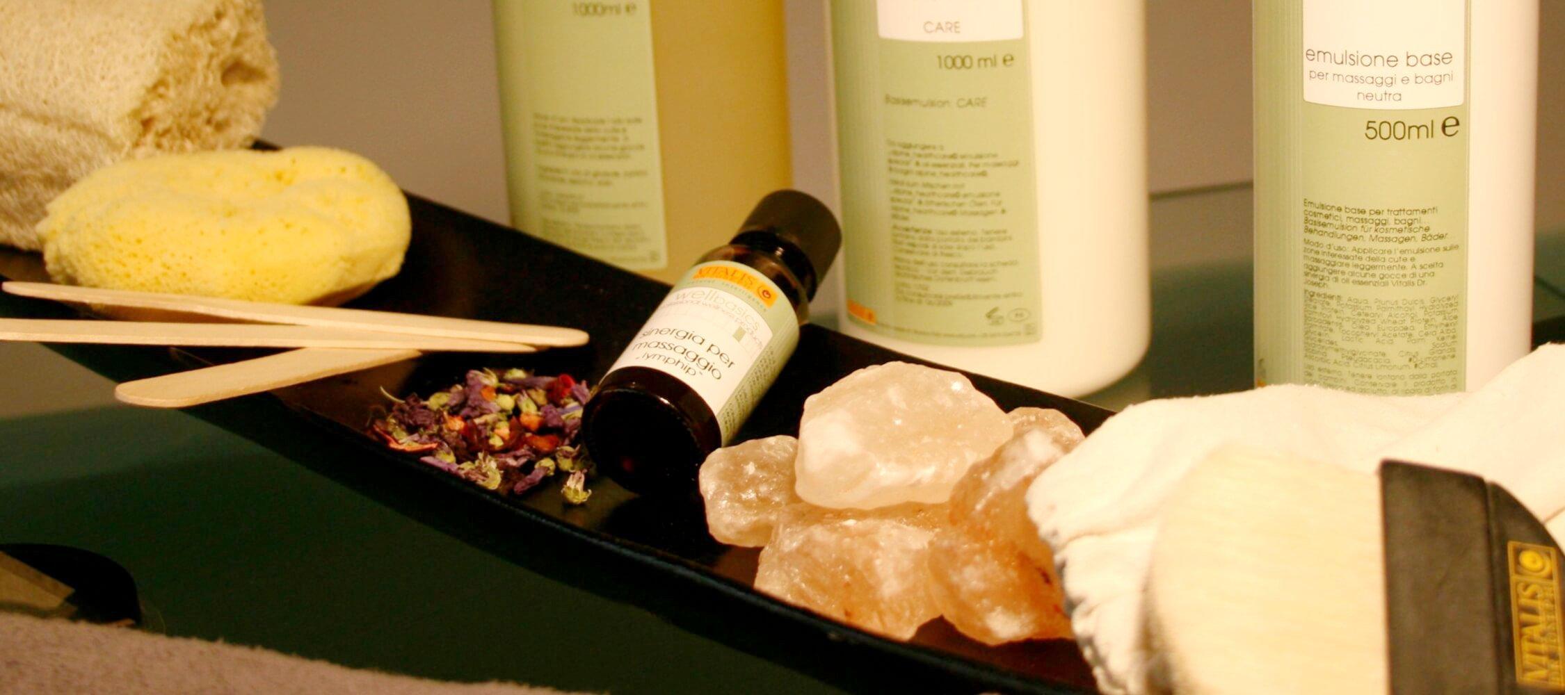 City Hotel Meran, SPA, Massageprodukte von Vitalis Dr. Joseph, Südtiroler Markenprodukt