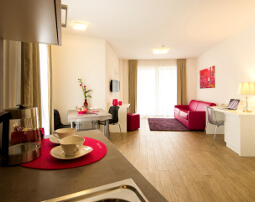 City Hotel Merano, living room, modern design, balcony, air-conditioning