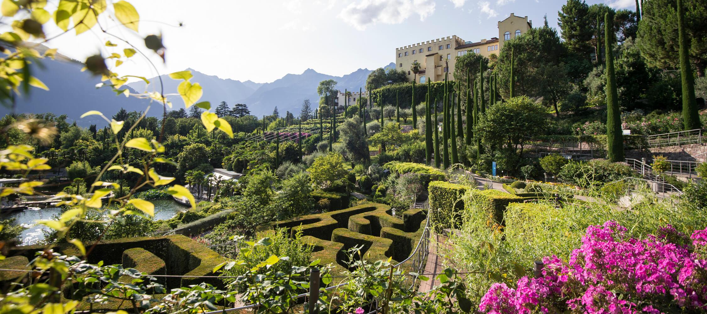 Italien-Trentino_Suedtirol_Alto_Adige_Merano_Meran_Natur_Besichtigen_Botanischer_Garten_Gaerten_von_Schloss_Sommer_MGM-Alex-Filz_mgm01443mgm_2250x1000