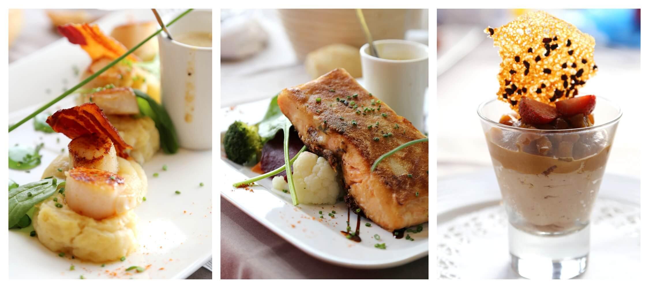 Restaurant The Gallery im City Hotel Meran, Fisch, alpin-mediterrane Küche, Anipasti, Vorspeisen