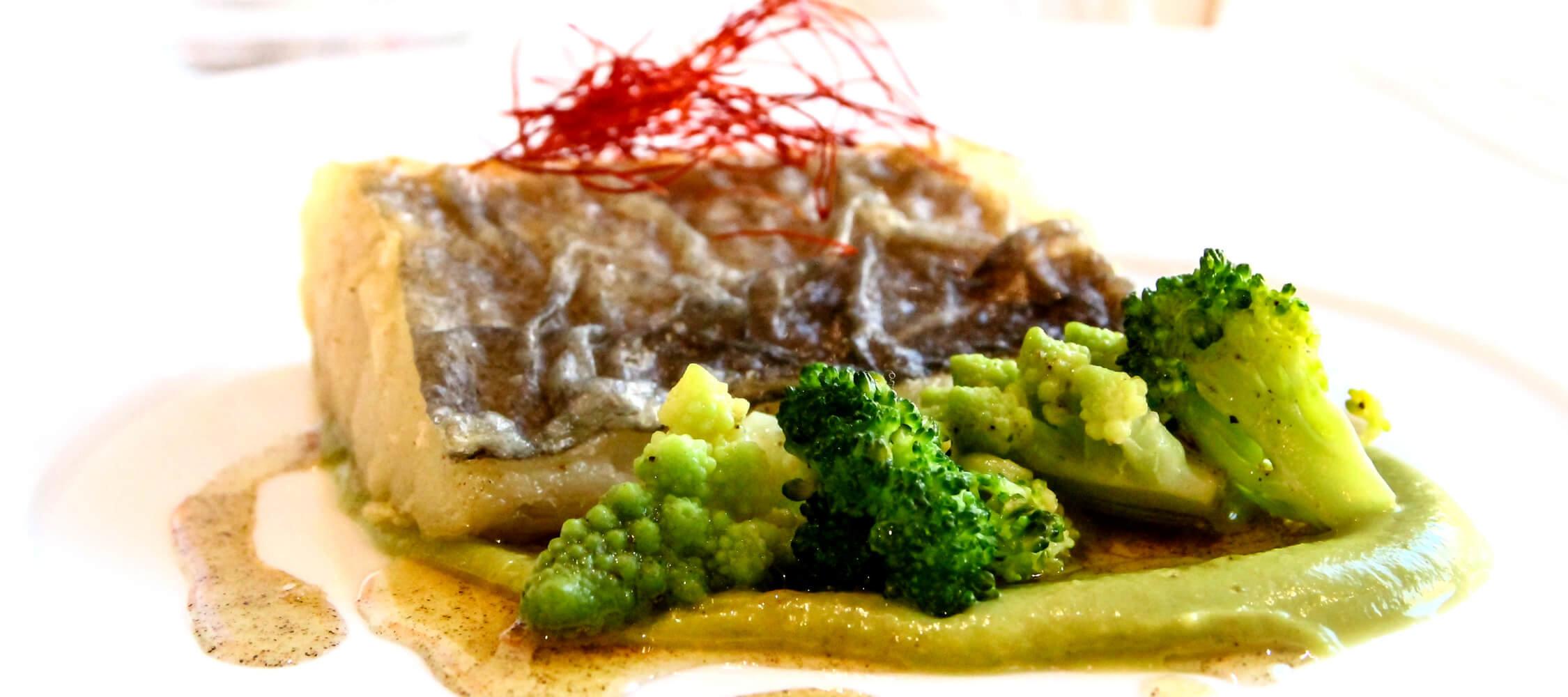 Restaurant City Hotel Meran, Fischvorspeise, hippe und trendige Küche