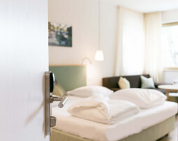 Hotel Flora, Merano, South Tyrol west, 3 stars hotel, B&B, double room superior Calla