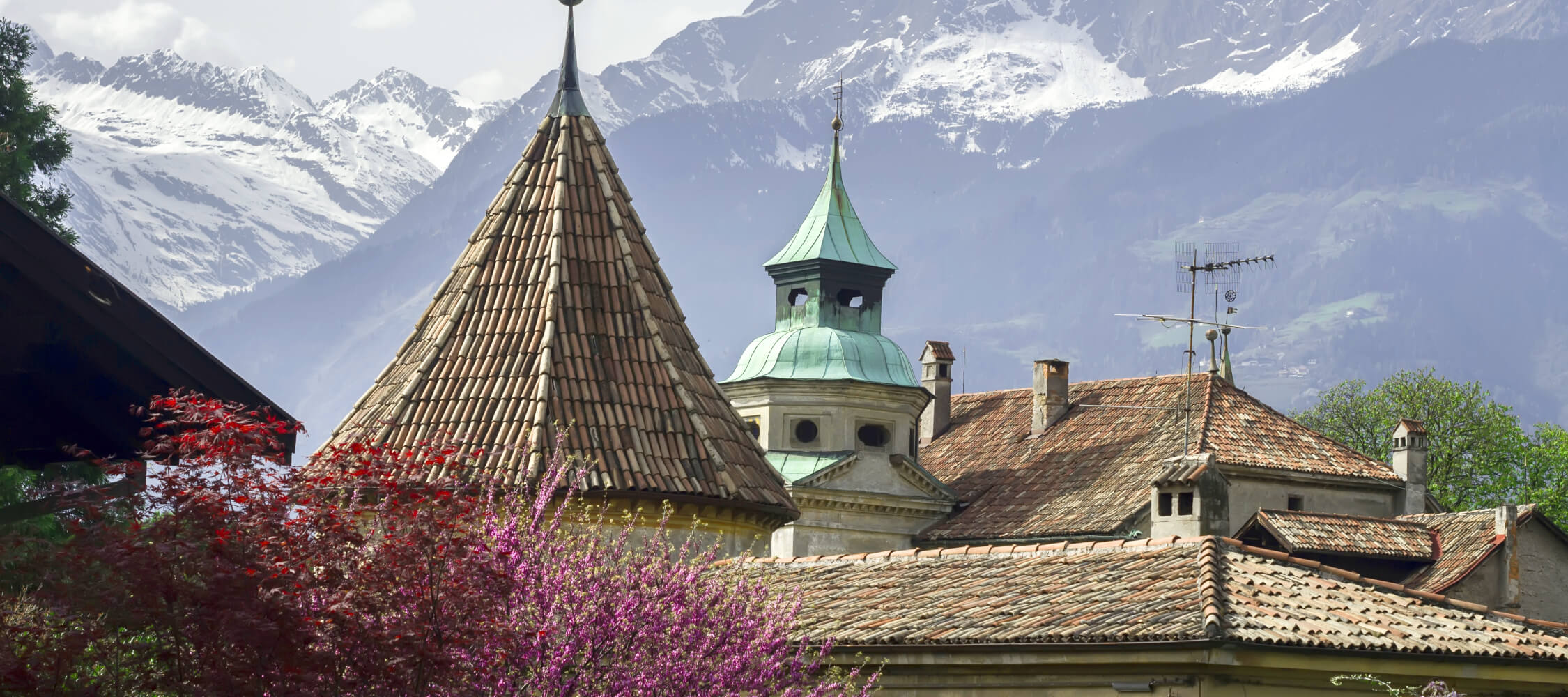 Italien-Trentino_Suedtirol_Alto_Adige_Merano_Meran_Stadt_Altstadt_Panorama_Berge_Haus_Winter_Fruehling_93645164_2250x1000