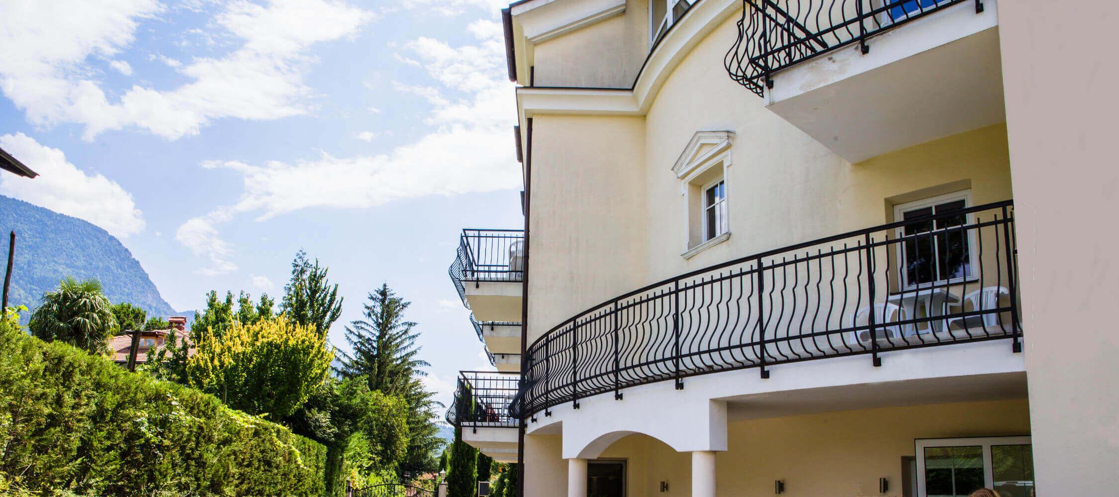 Hotel Villa Laurus Meran - 3 Sterne - die Fassade