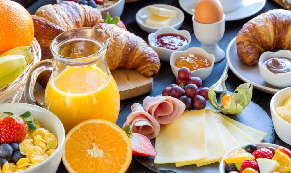 Frühstück in der Villa Laurus